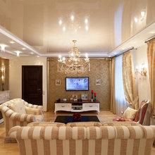 Фотография: Гостиная в стиле Классический, Советы, Ремонт, Потолок, Ремонт на практике – фото на InMyRoom.ru