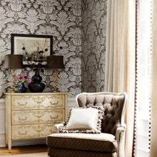 Фотография: Гостиная в стиле Кантри, Декор интерьера, Декор дома, Обои – фото на InMyRoom.ru