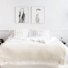 Фотография: Спальня в стиле Скандинавский, Интерьер комнат, Цвет в интерьере – фото на InMyRoom.ru