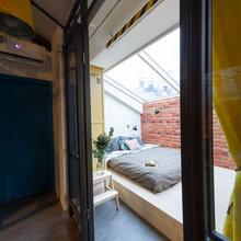 Фотография: Спальня в стиле Лофт, Квартира, Проект недели, Санкт-Петербург, Макс Жуков, Старый фонд, ToTaste Studio – фото на InMyRoom.ru
