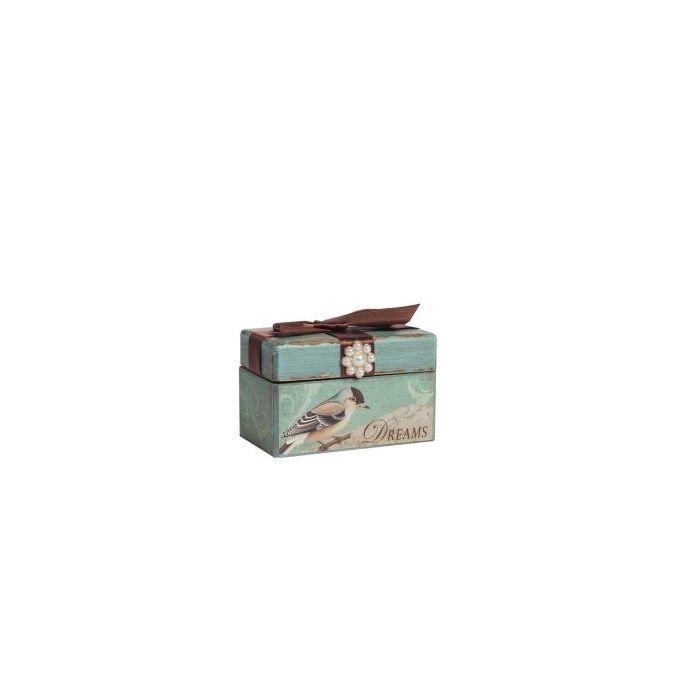 Декоративная коробка с бархатной лентой Tiffany