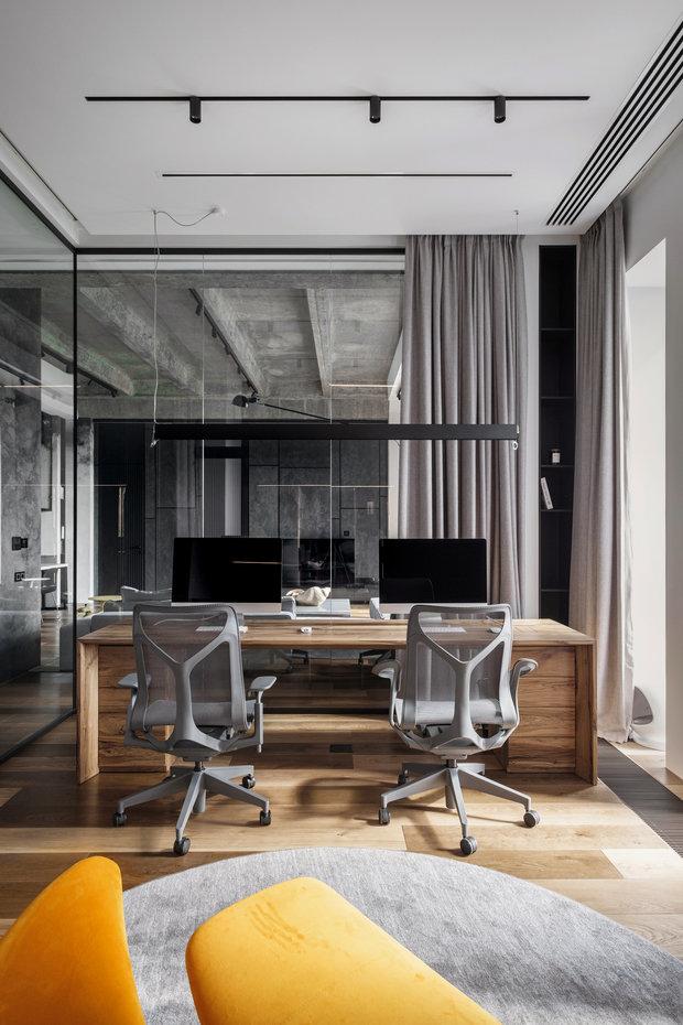 Фотография: Кабинет в стиле Лофт, Квартира, Проект недели, Москва, 3 комнаты, Более 90 метров – фото на INMYROOM