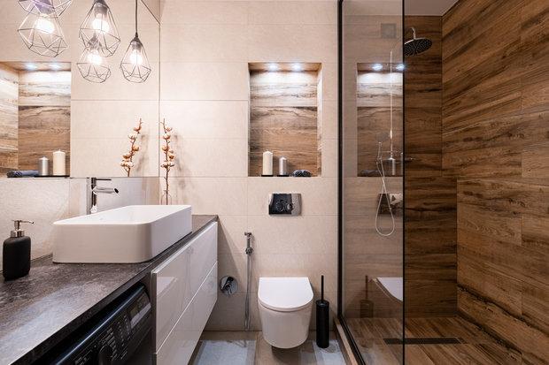 Фотография: Ванная в стиле Современный, Квартира, Минимализм, Проект недели, Балашиха, 1 комната, 40-60 метров, Марина Гри – фото на INMYROOM