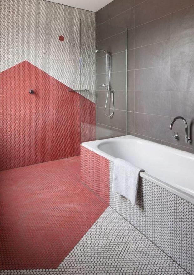 Фотография: Ванная в стиле Современный, Декор интерьера, Зеленый, Бежевый, Серый, Розовый, Голубой – фото на InMyRoom.ru