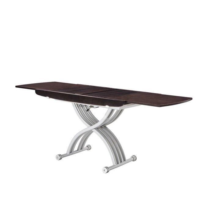 Журнально-обеденный раздвижной стол с регулировкой высоты