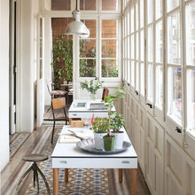 Фотография: Балкон, Терраса в стиле Скандинавский, Кабинет, Интерьер комнат – фото на InMyRoom.ru
