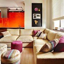 Фотография: Гостиная в стиле Современный, Минимализм, Квартира, Цвет в интерьере, Дома и квартиры – фото на InMyRoom.ru
