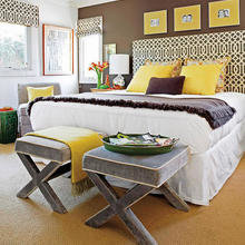 Фотография: Спальня в стиле Кантри, Декор интерьера, Дизайн интерьера, Цвет в интерьере, Стены – фото на InMyRoom.ru