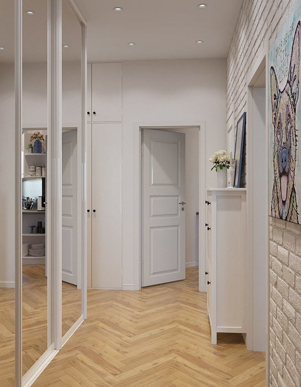 Фото из портфолио Небольшая квартира в силе Лофт+Скандинавский  – фотографии дизайна интерьеров на INMYROOM