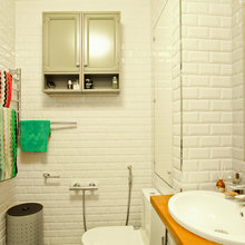 Фотография: Ванная в стиле Кантри, Лофт, Скандинавский, Современный, Квартира, Проект недели – фото на InMyRoom.ru