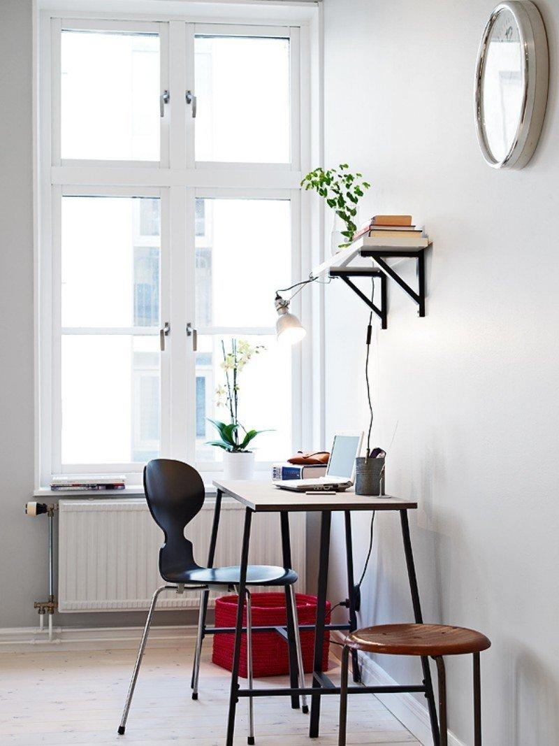 Фотография: Офис в стиле Скандинавский, Малогабаритная квартира, Квартира, Дома и квартиры, Гетеборг – фото на InMyRoom.ru