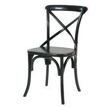 Черный стул для кабинета (массив дуба, Франция)