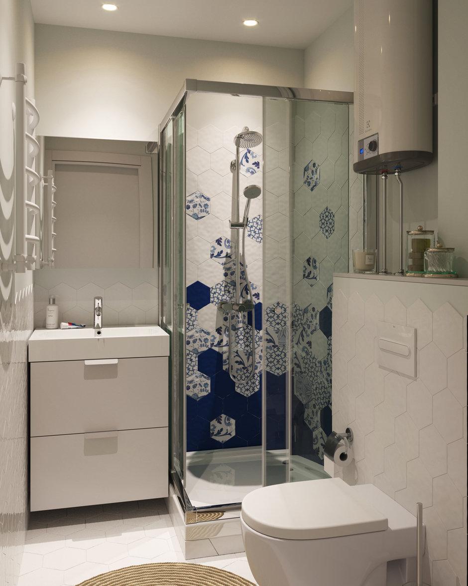 Фотография:  в стиле , Малогабаритная квартира, Квартира, Проект недели, Москва, Кирпичный дом, 2 комнаты, 40-60 метров, I-511 – фото на InMyRoom.ru