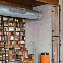 Фотография: Прочее в стиле Лофт, Эклектика, Дизайн интерьера, Стена, Библиотека, Будапешт – фото на InMyRoom.ru