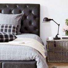 Фотография: Спальня в стиле Лофт, Скандинавский, Декор интерьера, Мебель и свет, Искусственный ротанг – фото на InMyRoom.ru