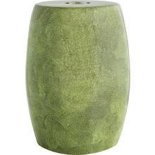 керамический столик-табурет Anaconda mustard в виде барабана
