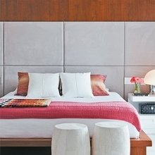 Фотография: Спальня в стиле Современный, Квартира, Цвет в интерьере, Дома и квартиры – фото на InMyRoom.ru
