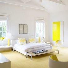 Фотография: Спальня в стиле Скандинавский, Декор интерьера, Дизайн интерьера, Цвет в интерьере, Желтый – фото на InMyRoom.ru