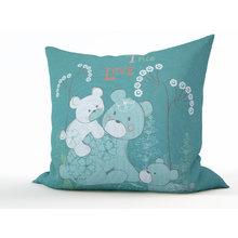 Декоративная подушка: Семья мишек