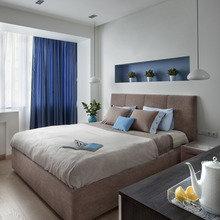 Фотография: Спальня в стиле Современный, Малогабаритная квартира, Квартира, Минимализм, Проект недели, Москва, 2 комнаты, 40-60 метров, Антонина Синчугова – фото на InMyRoom.ru