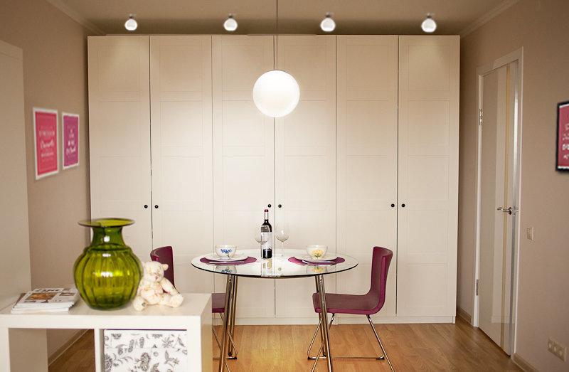 Фотография: Кухня и столовая в стиле Современный, Малогабаритная квартира, Квартира, Дома и квартиры, IKEA, Переделка – фото на InMyRoom.ru