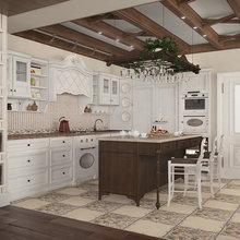 Фотография: Кухня и столовая в стиле Кантри, Квартира, Дома и квартиры, Прованс, Проект недели – фото на InMyRoom.ru