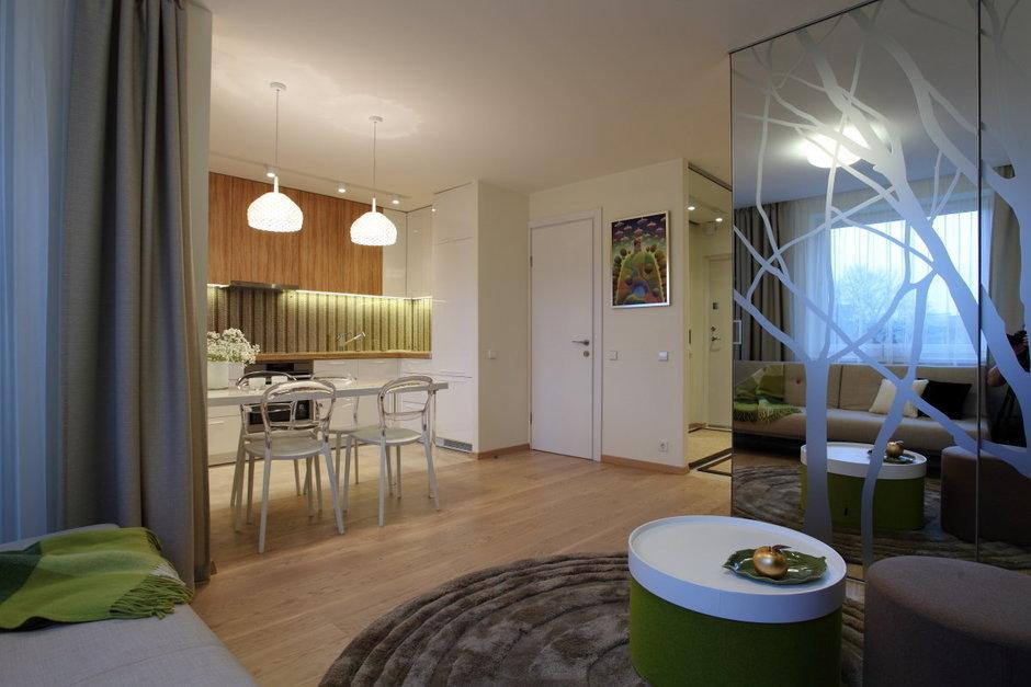 Фотография: Кухня и столовая в стиле Современный, Малогабаритная квартира, Квартира, Дома и квартиры, Проект недели – фото на InMyRoom.ru