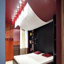 Фотография: Спальня в стиле Восточный, Квартира, Цвет в интерьере, Дома и квартиры – фото на InMyRoom.ru