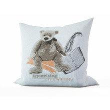 Детская подушка: Мишка-писатель