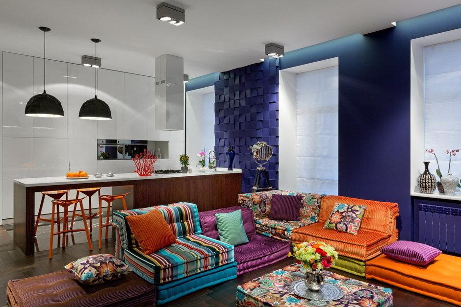 Фотография: Гостиная в стиле Прованс и Кантри, Лофт, Малогабаритная квартира, Квартира, Дома и квартиры, Перепланировка – фото на InMyRoom.ru
