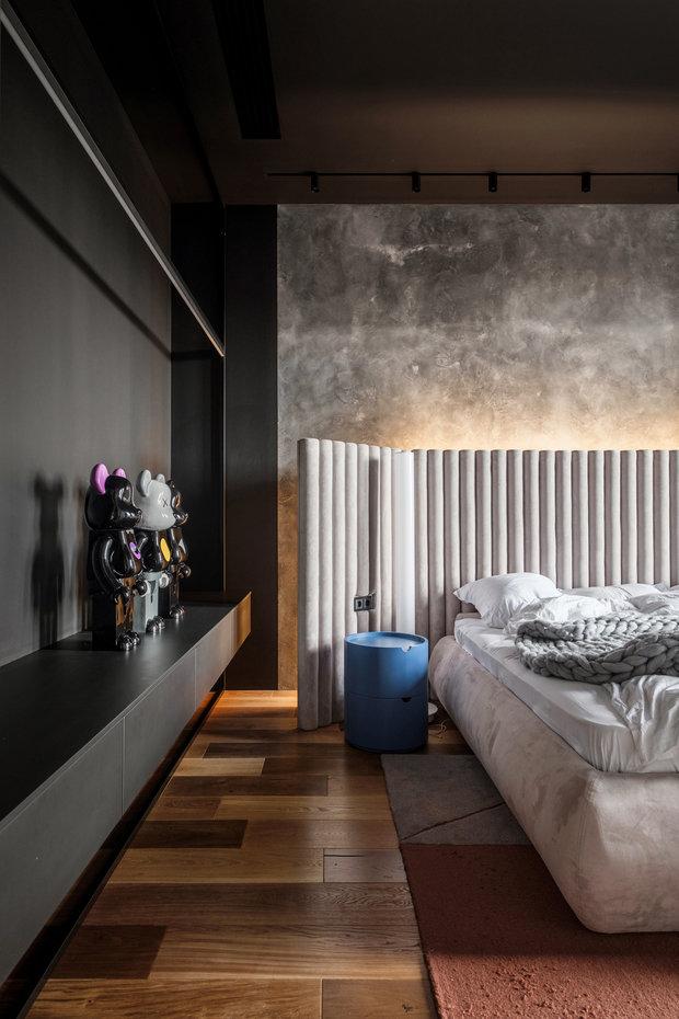 Фотография: Спальня в стиле Лофт, Современный, Квартира, Проект недели, Москва, 3 комнаты, Более 90 метров – фото на INMYROOM