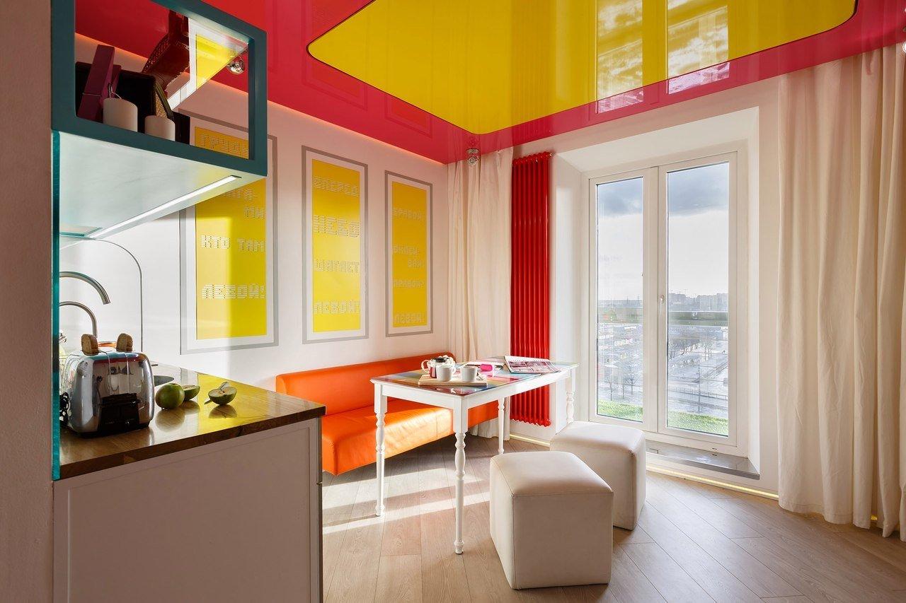 Желтая кухня и свет