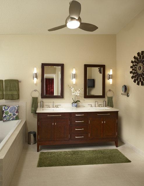 Фотография: Ванная в стиле Прованс и Кантри, Декор интерьера, Мебель и свет – фото на InMyRoom.ru