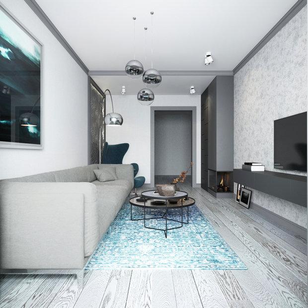 Фото из портфолио Трехкомнатная квартира с панорамным видом – фотографии дизайна интерьеров на INMYROOM
