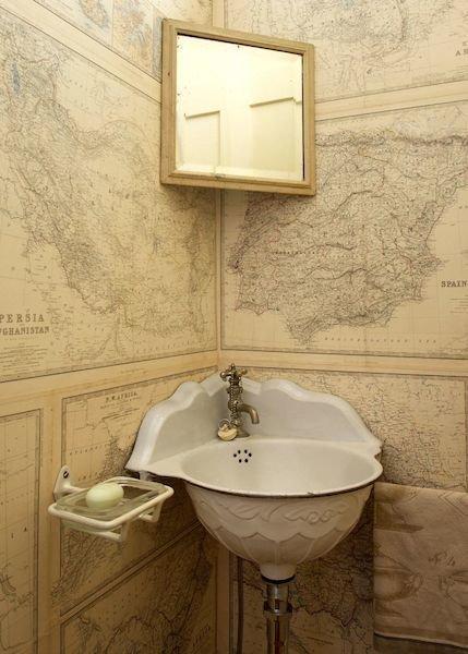 Фотография: Ванная в стиле Прованс и Кантри, Эклектика, Интерьер комнат – фото на InMyRoom.ru