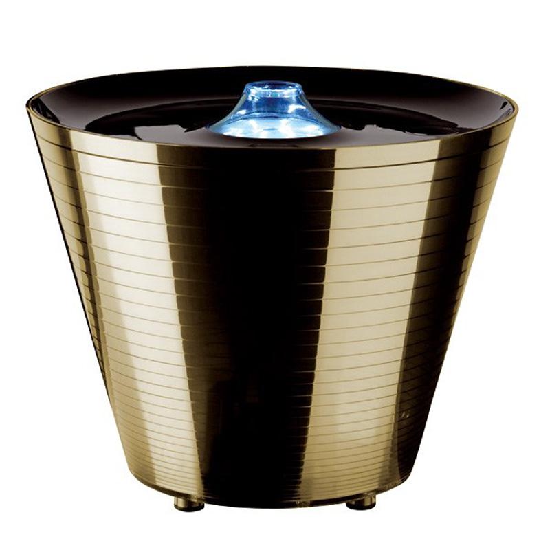 Настольная лампа-контейнер Rotaliana Multipot золотого цвета