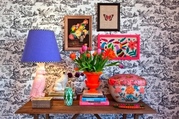 Фотография: Декор в стиле Эклектика, Декор интерьера, Декор дома, Цвет в интерьере, Геометрия в интерьере – фото на InMyRoom.ru