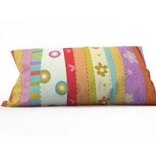 Диванная подушка: Цветочные полосы