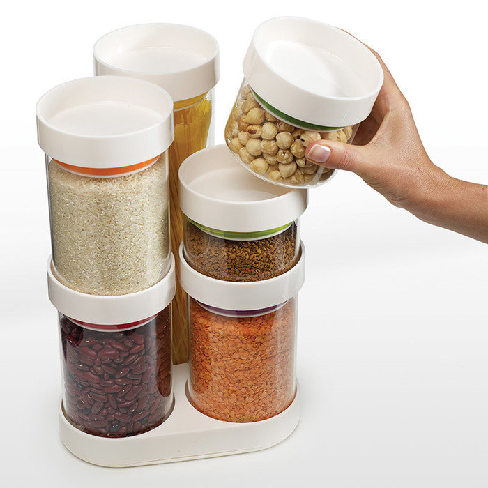 Набор ёмкостей для хранения круп food store™ carousel белый