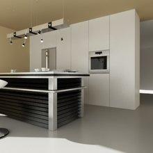 Фотография: Кухня и столовая в стиле Минимализм, Дом, Дома и квартиры, Архитектурные объекты – фото на InMyRoom.ru