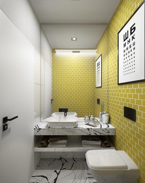 Фотография: Ванная в стиле Скандинавский, Советы, маленькая ванная – фото на InMyRoom.ru
