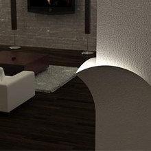 Фотография: Гостиная в стиле Современный, Декор интерьера, Освещение, Мебель и свет – фото на InMyRoom.ru