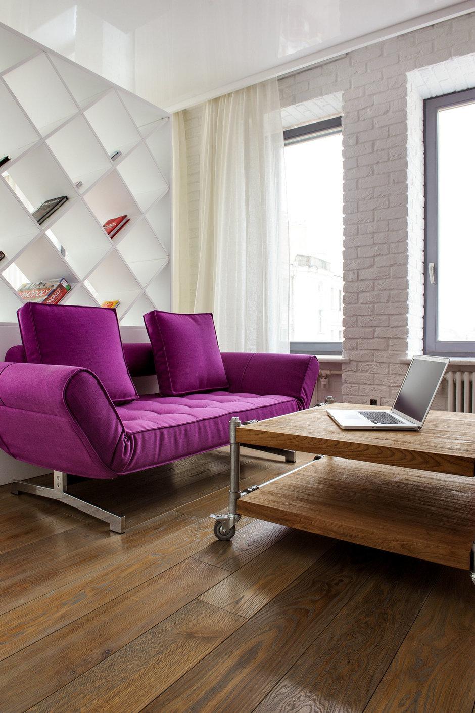 Фотография: Гостиная в стиле Лофт, Квартира, Дома и квартиры, Проект недели, Поп-арт – фото на InMyRoom.ru