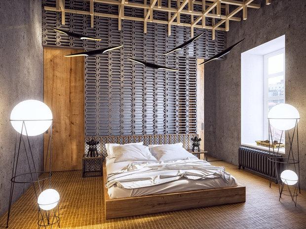 Фотография: Спальня в стиле Хай-тек, Ремонт на практике, «Точка ремонта», Дмитрий Кулаков – фото на InMyRoom.ru