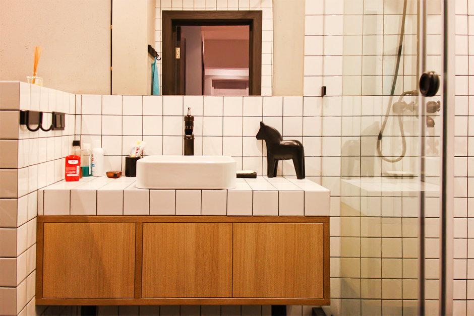 Фотография: Ванная в стиле Лофт, Квартира, Дома и квартиры, Минимализм, Проект недели – фото на InMyRoom.ru
