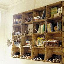 Фотография: Мебель и свет в стиле Кантри, Современный, Системы хранения, Библиотека, Домашняя библиотека – фото на InMyRoom.ru
