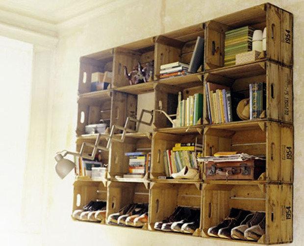 Фотография: Мебель и свет в стиле Прованс и Кантри, Современный, Системы хранения, Библиотека, Домашняя библиотека – фото на InMyRoom.ru