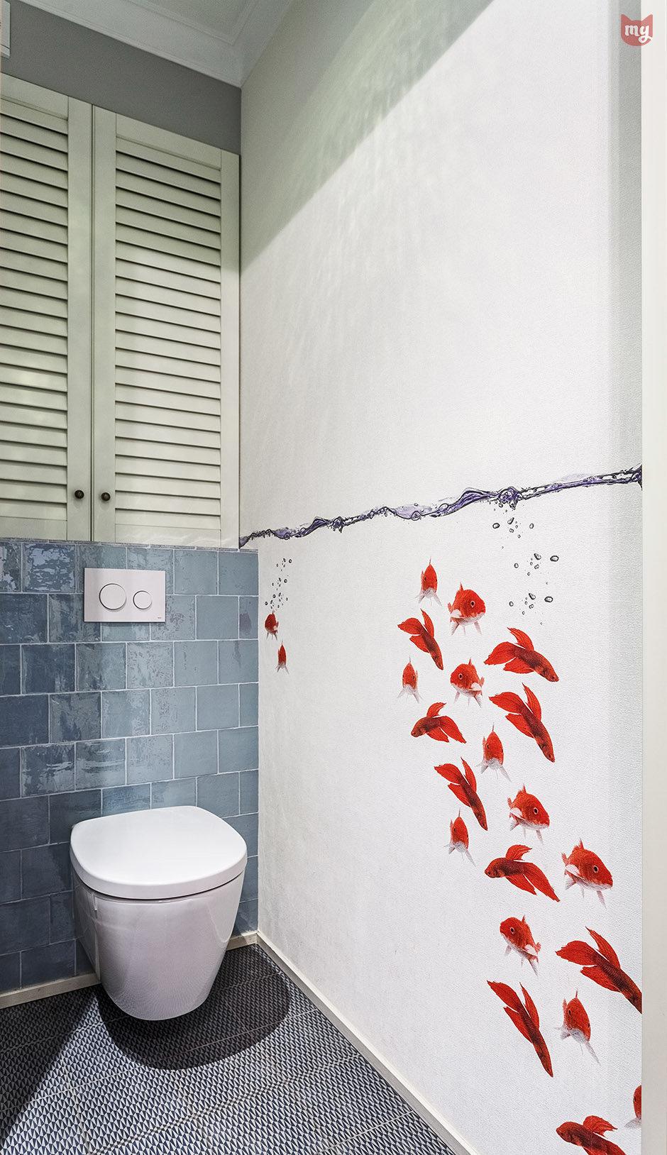 Фотография: Ванная в стиле Современный, Квартира, Проект недели, Наталья Сорокина – фото на InMyRoom.ru