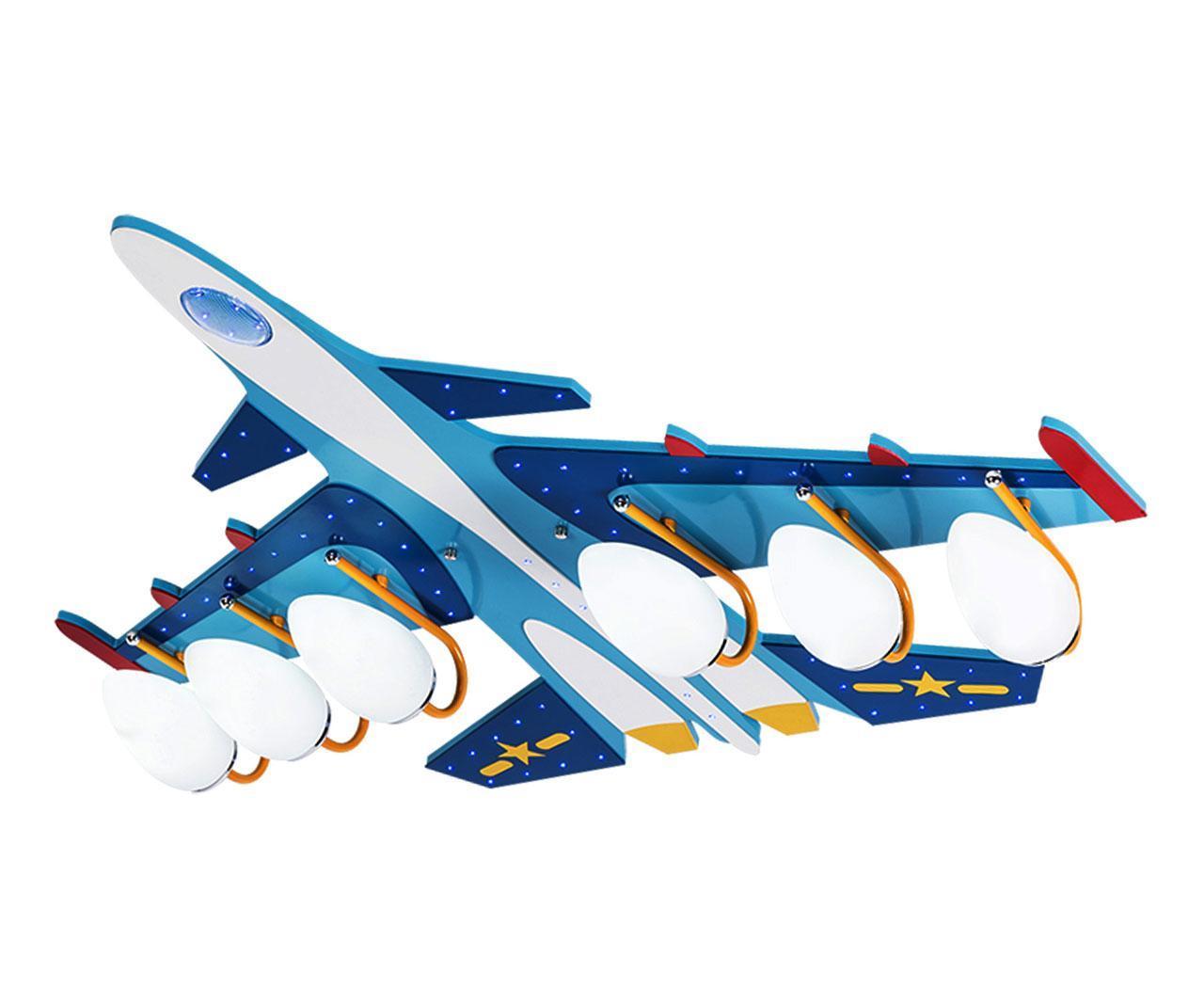 Потолочная люстра бомбардировщик голубого цвета