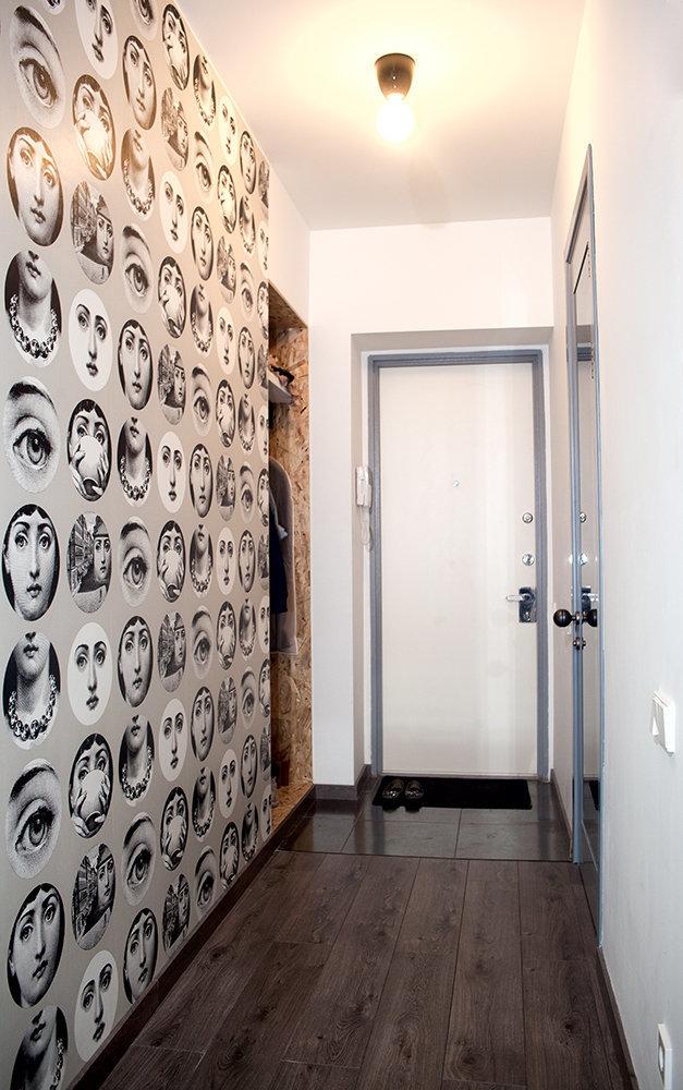 Фотография: Прихожая в стиле Скандинавский, Современный, Малогабаритная квартира, Квартира, Дома и квартиры – фото на InMyRoom.ru